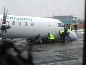 Avion Carpatair implicat într-un incident înainte de aterizare