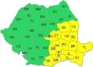 Codul galben de ninsoare si viscol a fost prelungit pentru Bacau si alte 9 judete