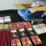 Materiale pirotehnice confiscate de polițiști