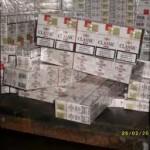 6.430 pachete de  ţigări de contrabandă şi un autocar, confiscate de inspectorii vamali