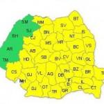 Cod galben de PLOI şi VIJELII în aproape toată ţara