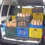 Sancţionat pentru că transporta ilegal pâine