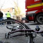 Biciclist și pieton implicați într-un accident rutier