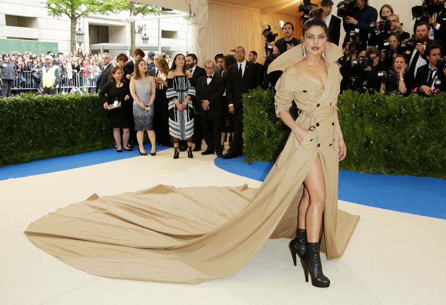 Mandatory Credit: Photo by Matt Baron/BEI/Shutterstock (8770835br) Priyanka Chopra The Costume Institute Benefit celebrating the opening of Rei Kawakubo/Comme des Garcons: Art of the In-Between, Arrivals, The Metropolitan Museum of Art, New York, USA - 01 May 2017