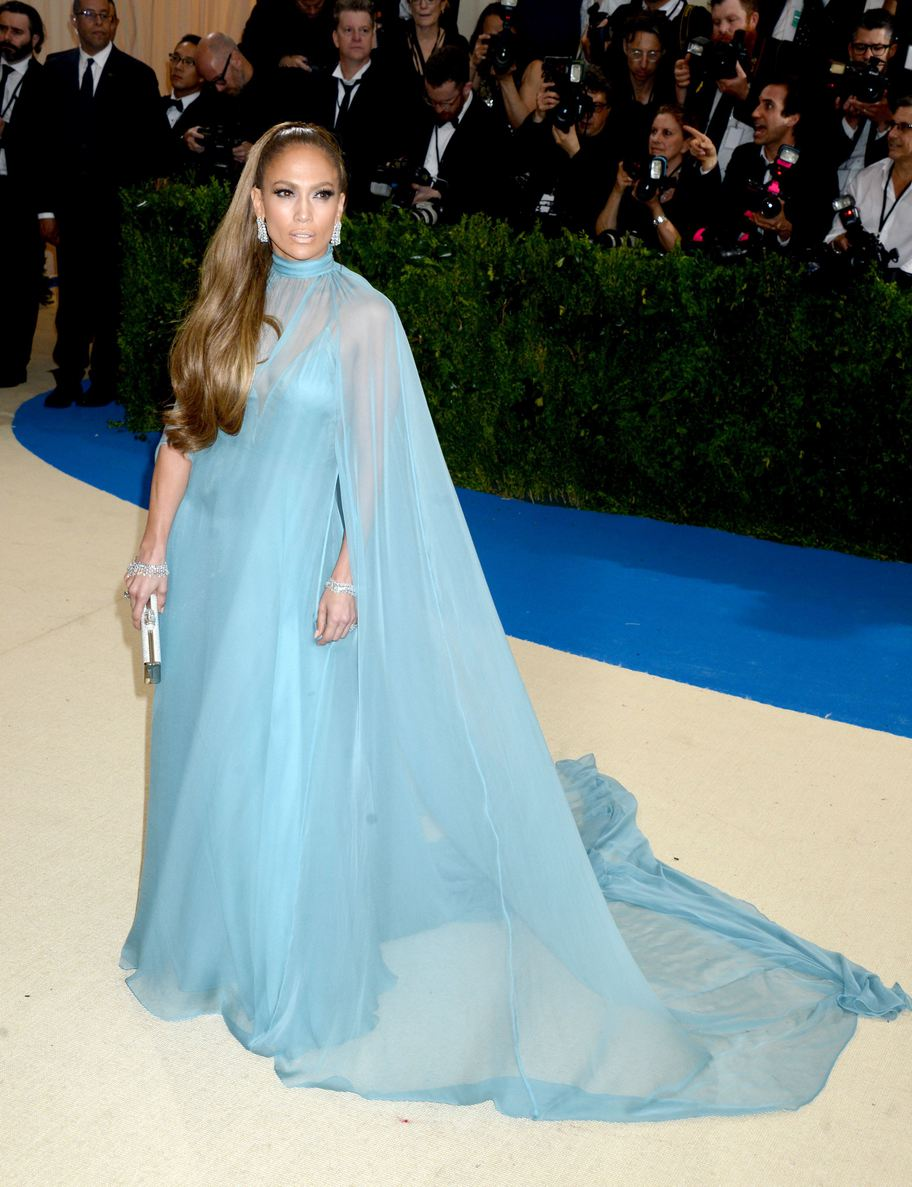 Jennifer Lopez arrives on the red carpet at the Costume Institute Benefit at The Metropolitan Museum of Art celebrating the opening of Rei Kawakubo/Comme des Garcons: Art of the In-Between in New York City, NY, USA, on May 1, 2017. Photo by Dennis Van Tine/ABACAPRESS.COM