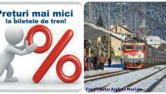 Reduceri tarifare la peste 100 de trenuri