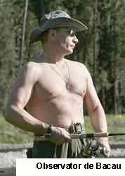 Vladimir Putin a sărutat un peşte