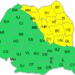 Cod galben de ploi în 13 judeţe din nordul şi nord-estul ţării