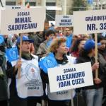 Sindicalistii din invatamant si-au strigat din nou durerea in strada