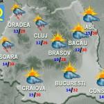 Vremea se răceşte până pe 10 mai. Care vor fi temperaturile maxime în perioada următoare