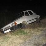 Oncesti: Accident rutier produs pe fondul neadaptării vitezei la condiţiile de drum
