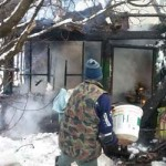 In drum spre meci, jandarmii de la GJM Bacau au stins un incendiu!