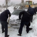 Gruparea de Jandarmi Mobila Bacau  actioneaza în judetele Braila si Vrancea în sprijinul populatiei afectate de caderile masive de zapada