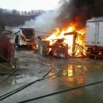 Incendiu de proportii in comuna Beresti Tazlau