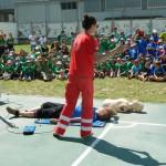 Demonstrație de prim ajutor a Crucii Roșii Bacău
