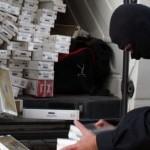Țigări de contrabandă confiscate de polițiști