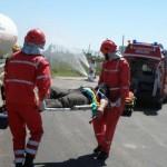 Misiuni de asigurare a măsurilor de prevenire și stingere a incendiilor în urma unor accidente rutiere
