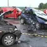 Patru autovehicule implicate intr-un accident rutier