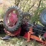 Accidentat mortal de tractorul pe care îl repara