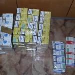 Țigarete de contrabandă confiscate de la un băcăuan