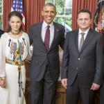 George Maior, ambasadorul Romaniei in SUA si-a prezentat scrisorile de acreditare presedintelui Barack Obama