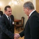 Intrevederea domnului deputat Petru Gabriel Vlase, vicepresedinte al Camerei Deputatilor cu Presedintele Finlandei Sauli Niinistö