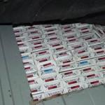 Depistată în timp ce transporta țigarete de contrabandă