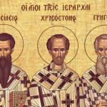 Sfinţilor Trei Ierarhi, Vasile cel Mare, Grigorie Teologul şi Ioan Gură de Aur
