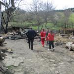 Echipa Crucii Roșii Bacău a oferit sprijini familiile din comuna Brusturoasa