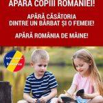 """Caravana Naţională """"Apără Copiii României, Apără Căsătoria dintre UN Bărbat şi O Femeie!"""